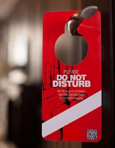 pancarte double face chambre hotel - Produit accueil hôtel