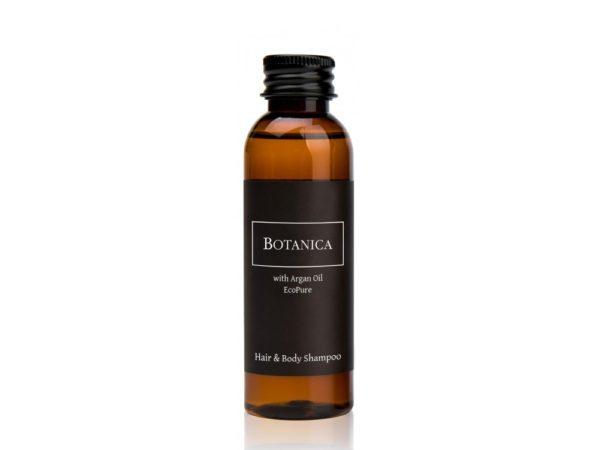 gel douche cheveux et corps bouteille 60 ml à l'argan