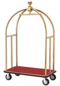 chariot porte bagage doré