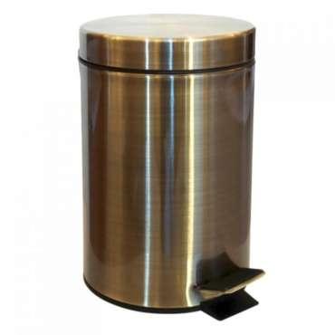 poubelle ronde à pédale bronze 3l,