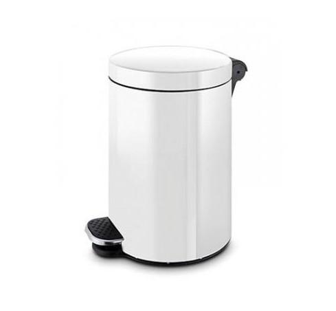 poubelle à pédale blanche ronde 3l
