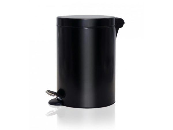 poubelle à pédale ronde noire, 3l