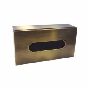 distributeur de Kleenex en inox, bronze