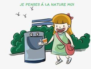poubelle extérieur + cendrier