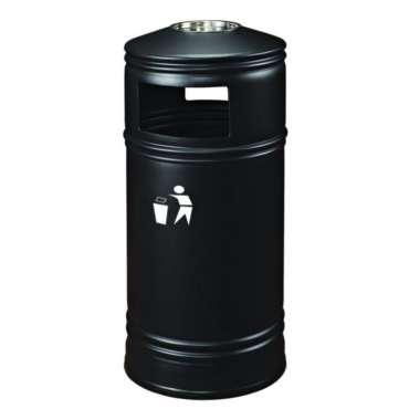 poubelle extérieure avec cendrier