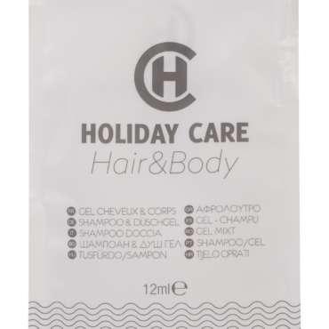 """gel douche cheveux et corps """"H"""" sachet 12 ml"""