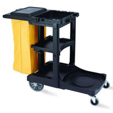 chariot femme de chambre noir/jaune
